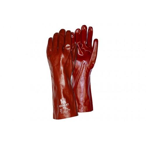 Rękawica z PVC wodoszczelna RS PVC GRANAT 27