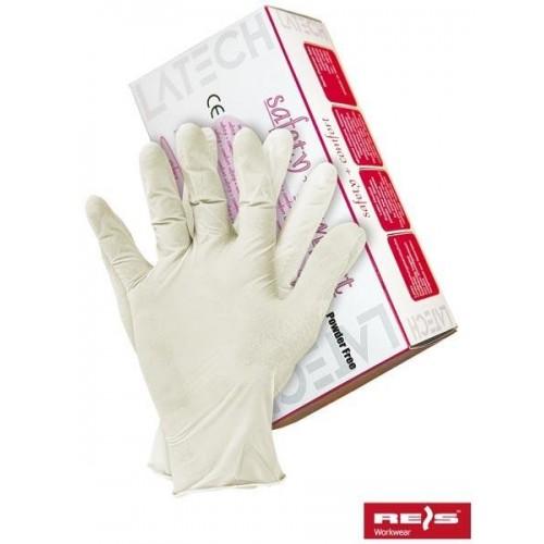 Rękawice lateksowe 8% VAT RALATEX-BEZP W