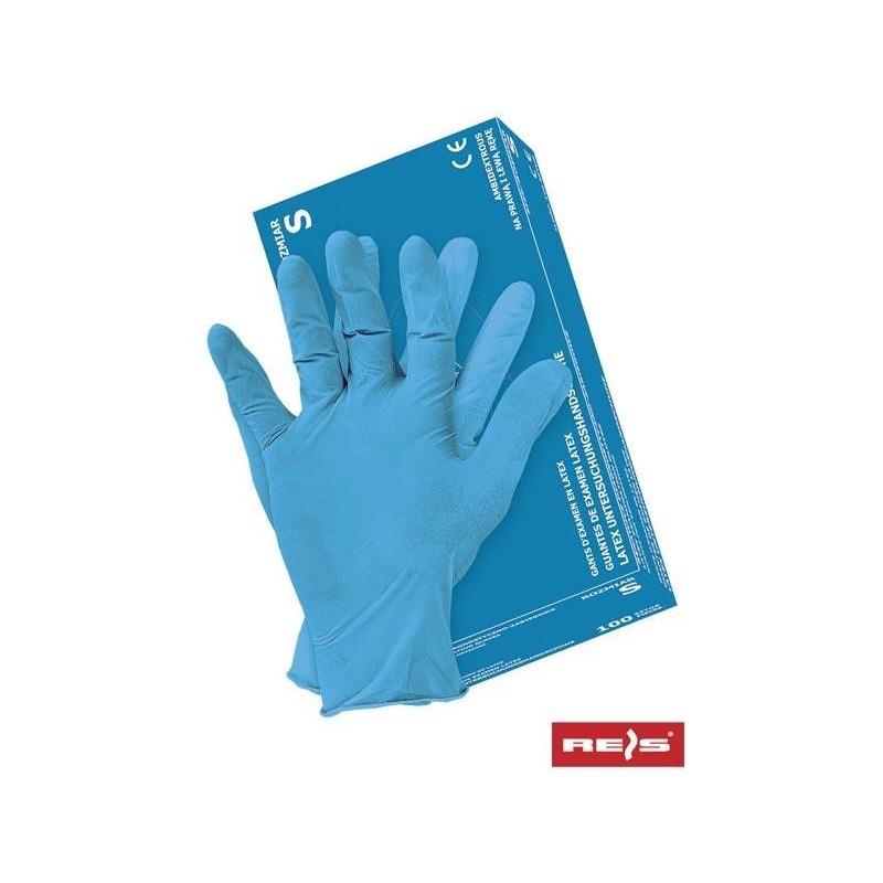 Rękawice lateksowe RALATEX-BLUE N