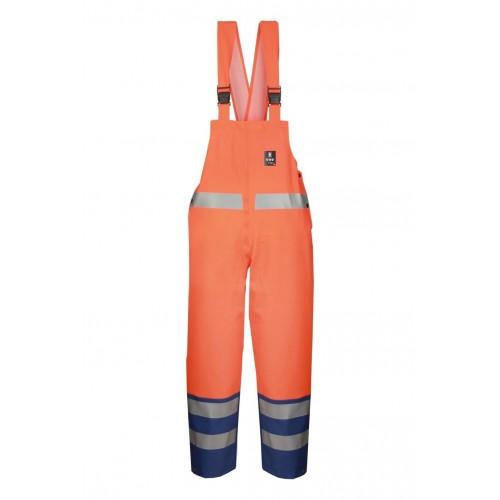 Spodnie ogrodniczki wodoochronne ostrzegawcze 891R