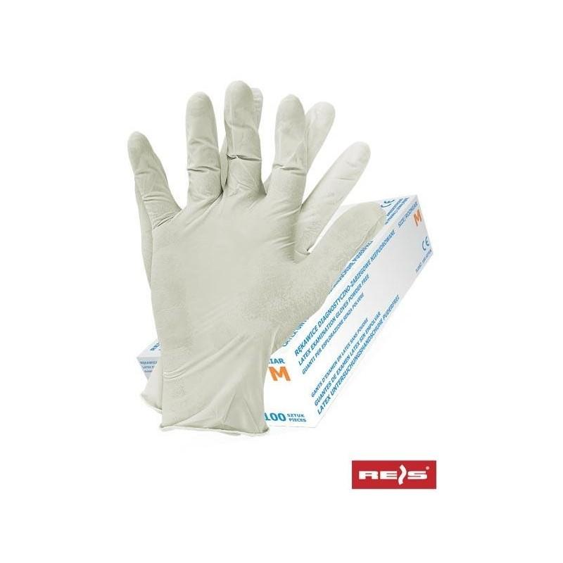 Rękawice lateksowe RALATEX-PF W