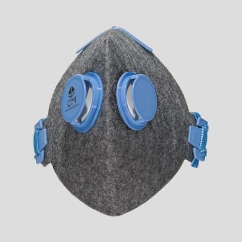 Półmaska antysmogowa szara 2V N