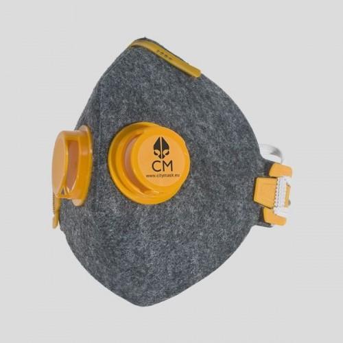 Półmaska antysmogowa szara 2V Z