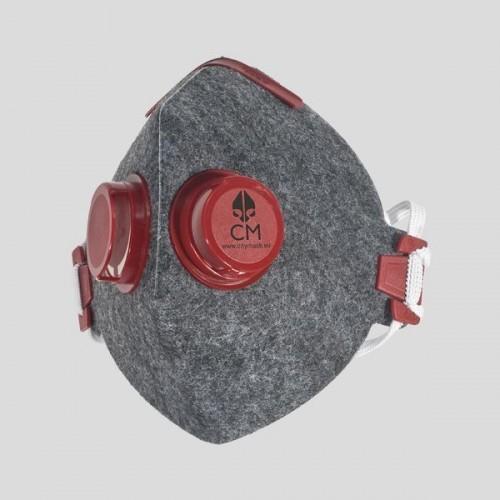 Półmaska antysmogowa szara 2V CZ