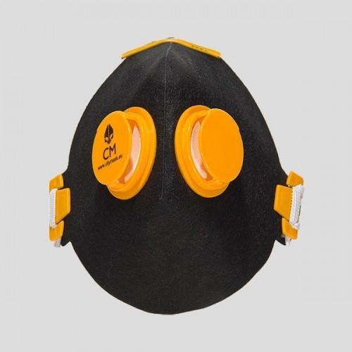 Półmaska antysmogowa z węglem aktywnym czarny/żółty