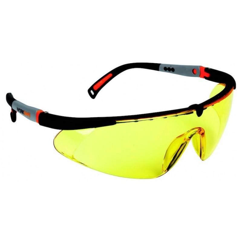 Okulary ochronne Worksafe HAWK EYE żółty