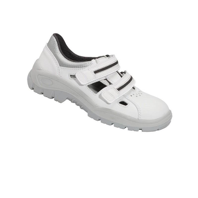Sandały bezpieczne z metalowym podnoskiem, białe - wz. 201