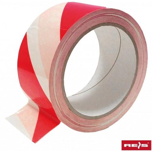 Taśma ostrzegawcza samoprzylepna TASO-SP33 biało-czerwona