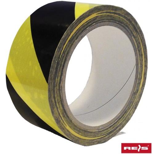 Taśma ostrzegawcza samoprzylepna TASO-SP33 żółto-czarna
