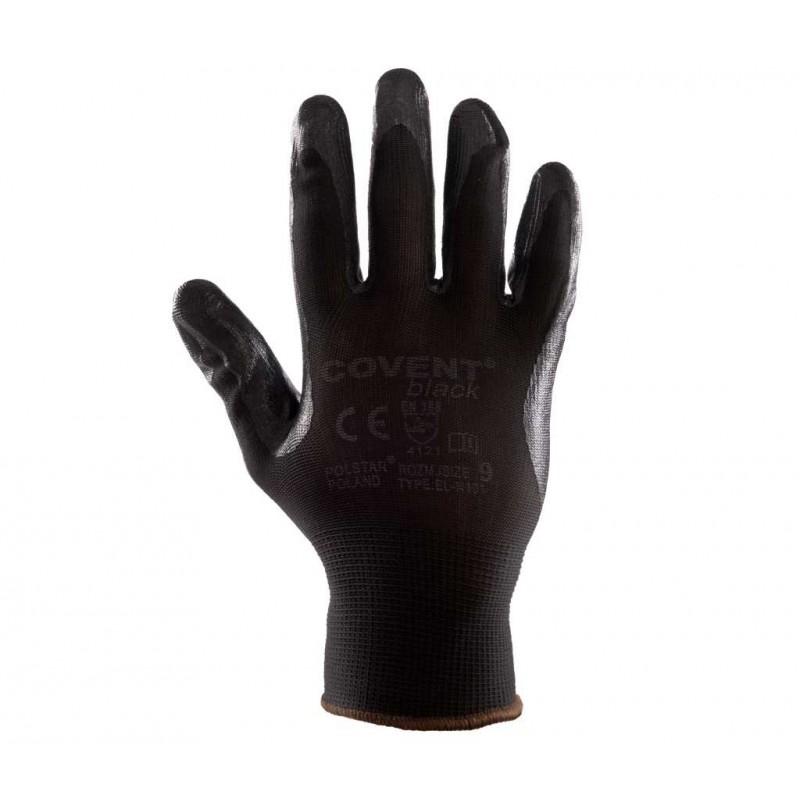 Rękawice powlekane Covent PU Black