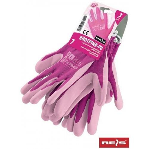 Rękawice ochronne RHOTPINK-PU RW
