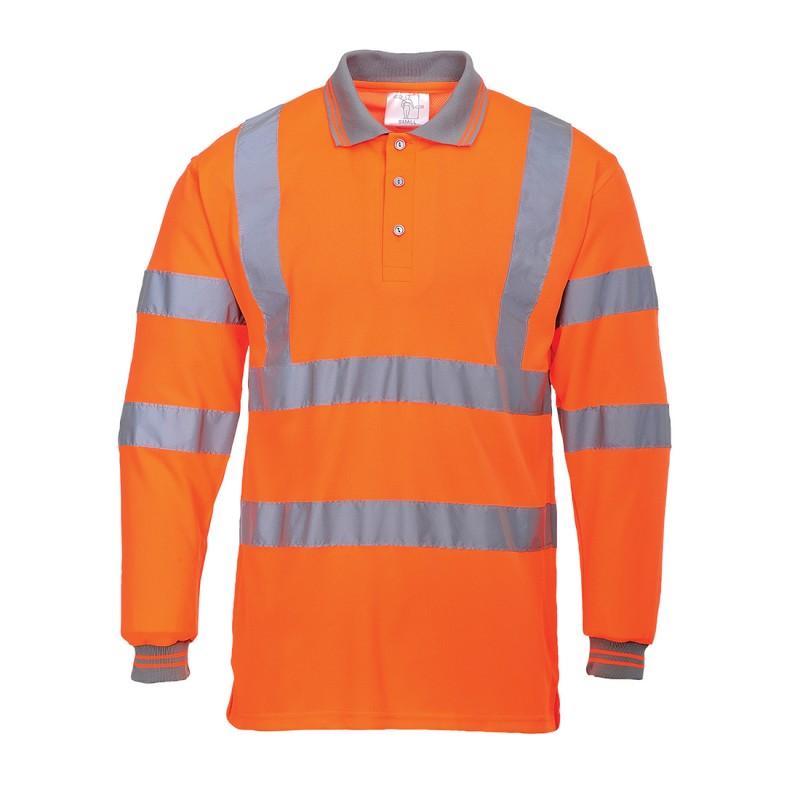 Koszulka polo ostrzegawcza z długim rękawem S277