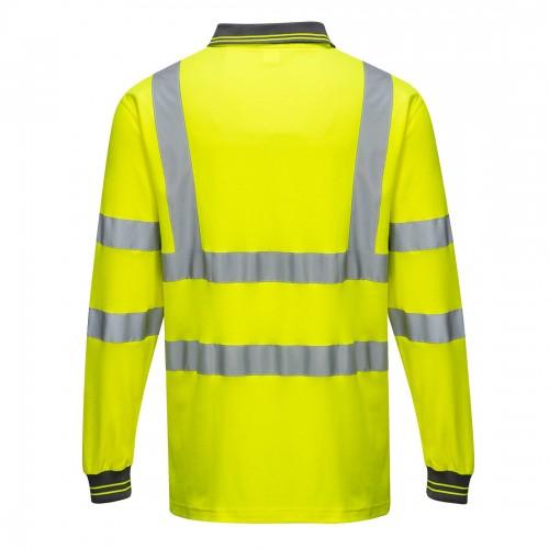 Koszulka polo ostrzegawcza Cotton Comfort z długim rękawem S271