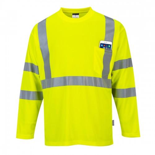 Koszulka ostrzegawcza z długim rękawem S191