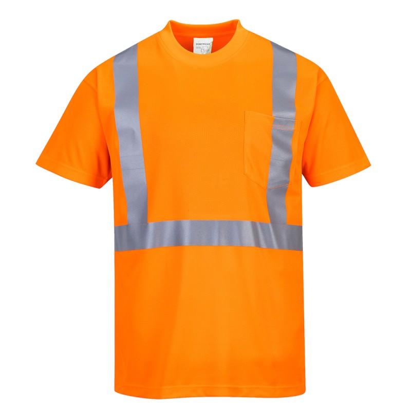 Koszulka ostrzegawcza z kieszonką S190