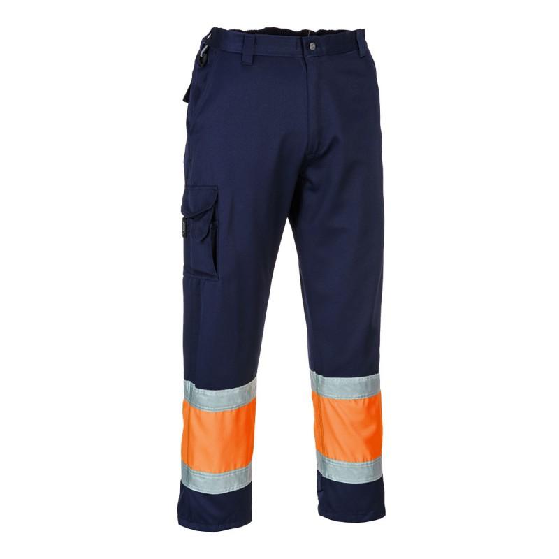 Spodnie bojówki ostrzegawcze E049