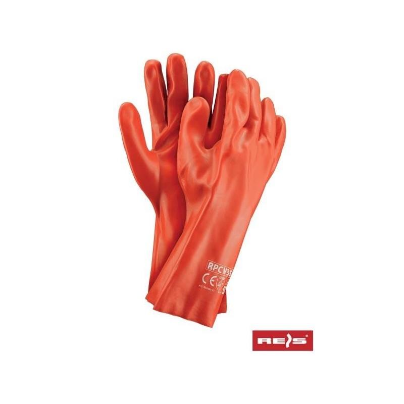 Rękawice PCV RPCV35 C 10.5 (35cm)