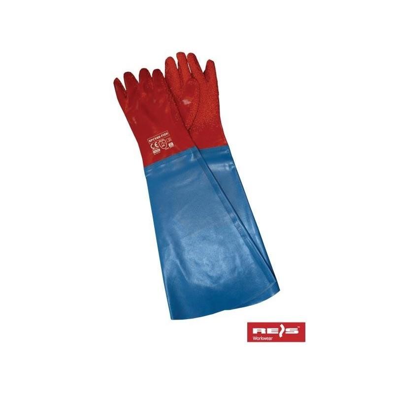 Rękawice PCV RPCV60-FISH CN 10.5 (60cm)