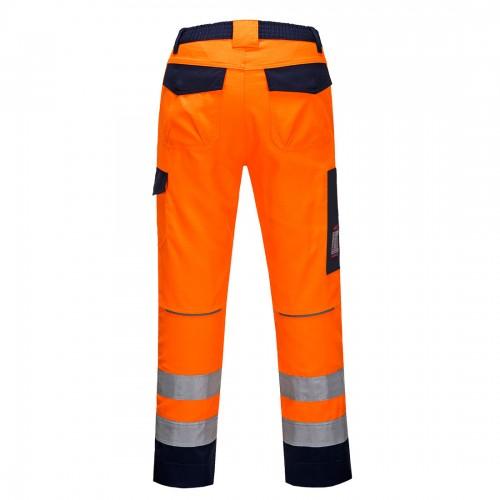 Spodnie ostrzegawcze trudnopalne MV36