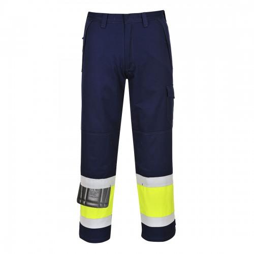 Spodnie ostrzegawcze trudnopalne MV26