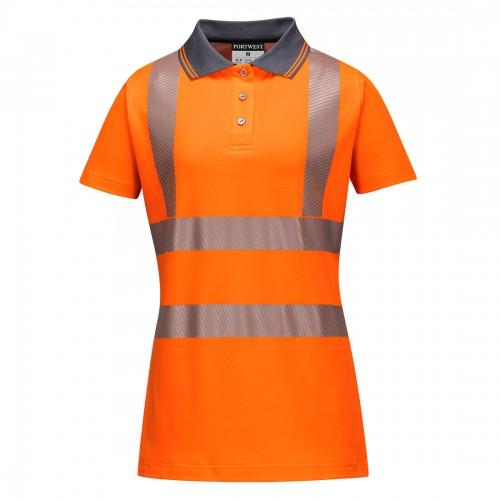 Koszulka polo damska ostrzegawcza LW72