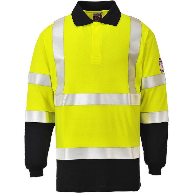 Koszulka ostrzegawcza trudnopalna FR76
