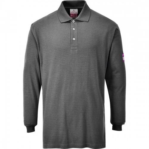 Koszulka polo trudnopalna z długim rękawem FR10