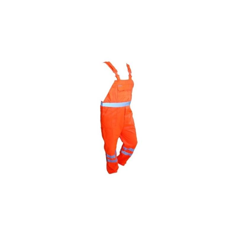 Spodnie ogrodniczki pomarańczowe Brixton Flash