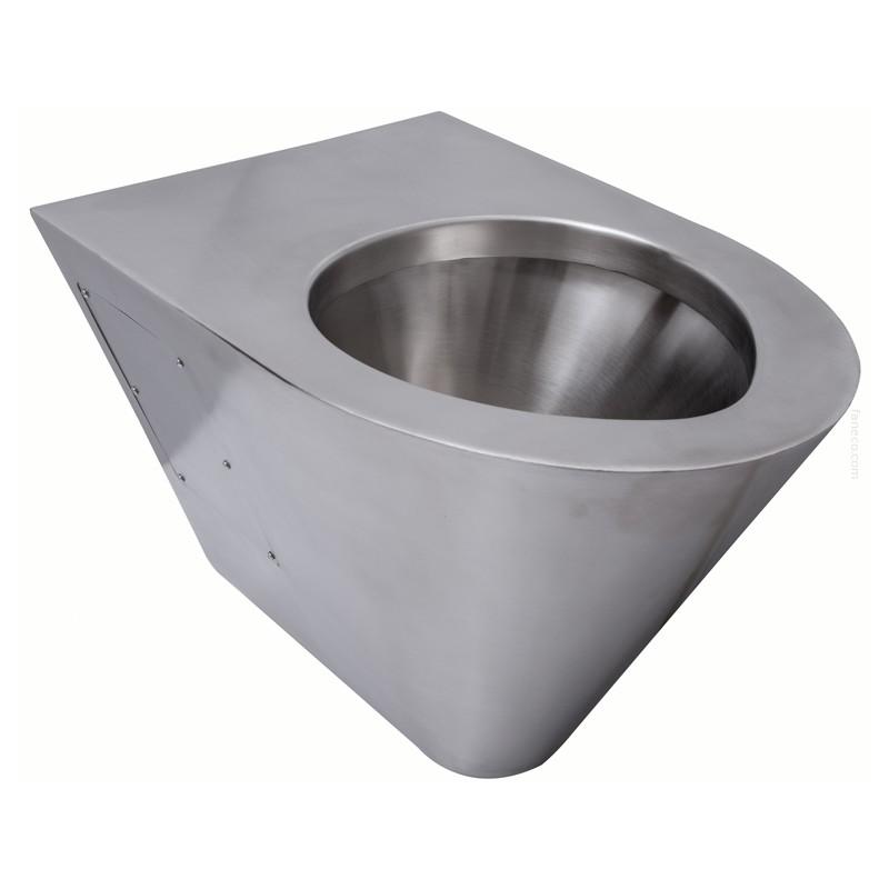 Miska WC wisząca stal szlachetna matowa