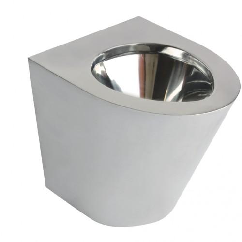 Miska WC stojąca stal szlachetna matowa