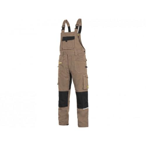 Spodnie ogrodniczki CXS Stretch beżowe