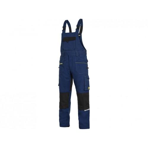 Spodnie ogrodniczki CXS Stretch granatowe