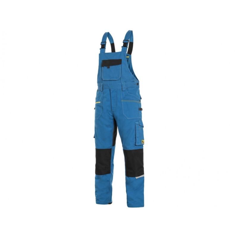 Spodnie ogrodniczki CXS Stretch niebieskie