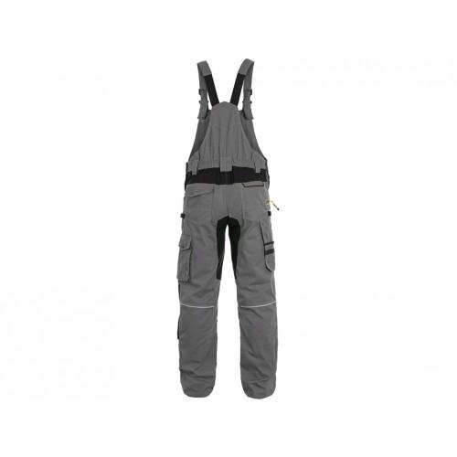 Spodnie ogrodniczki CXS Stretch szare