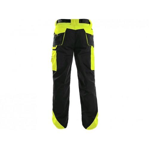 Spodnie do pasa ocieplane CXS Sirius BRIGHTON czarno-żółte
