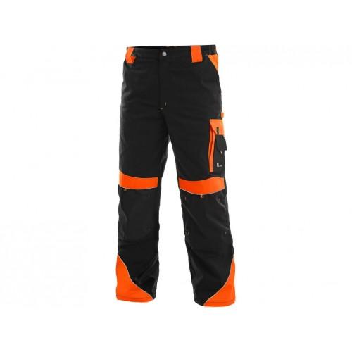 Spodnie do pasa CXS Sirius BRIGHTON czarno-pomarańczowe