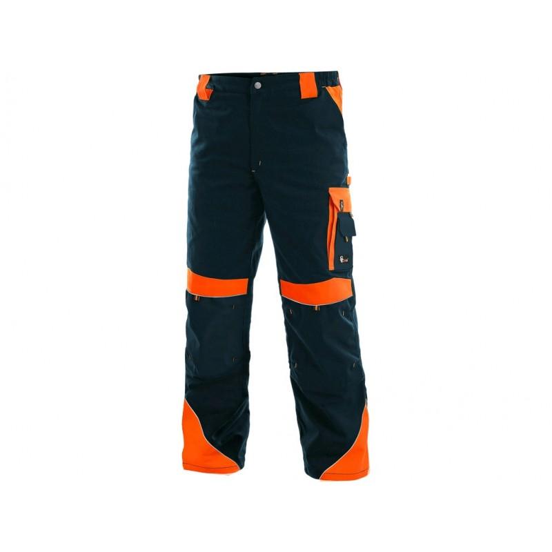 Spodnie do pasa CXS Sirius BRIGHTON niebiesko-pomarańczowe