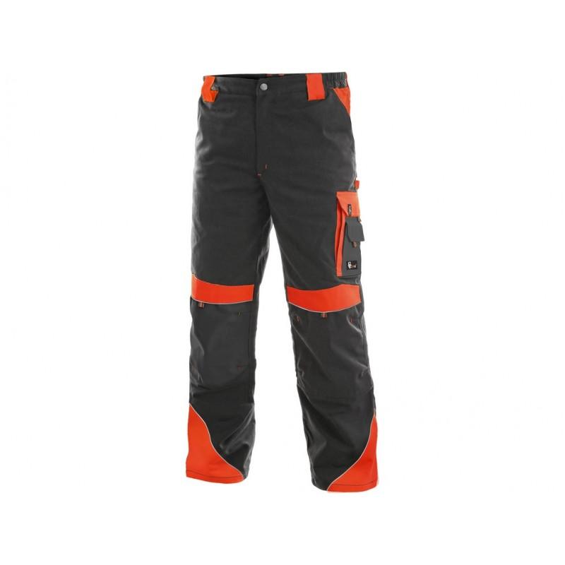 Spodnie do pasa CXS Sirius BRIGHTON szaro-czerwone