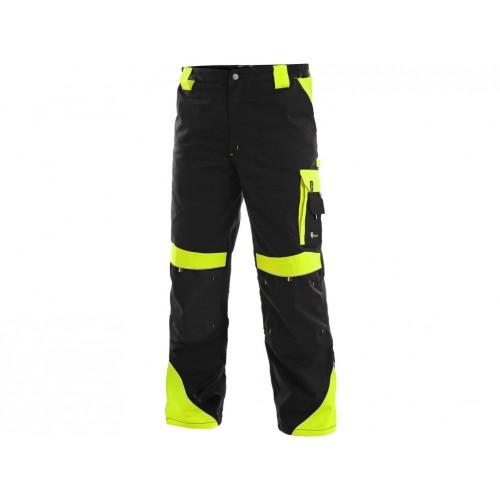 Spodnie do pasa CXS Sirius BRIGHTON czarno-żółte