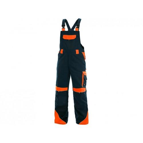 Spodnie ogrodniczki CXS Sirius BRIGHTON granatowo-pomarańczowe