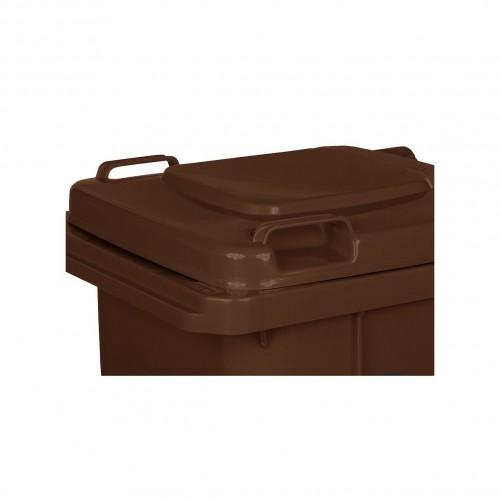 Pojemnik na śmieci 120L brązowy