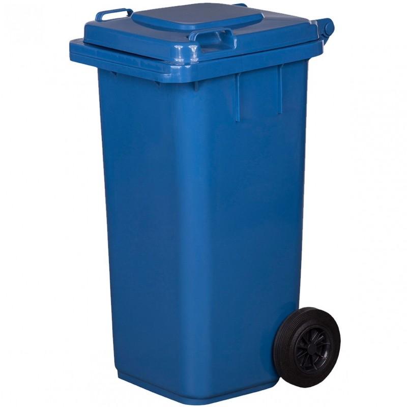 Pojemnik na śmieci 120L niebieski