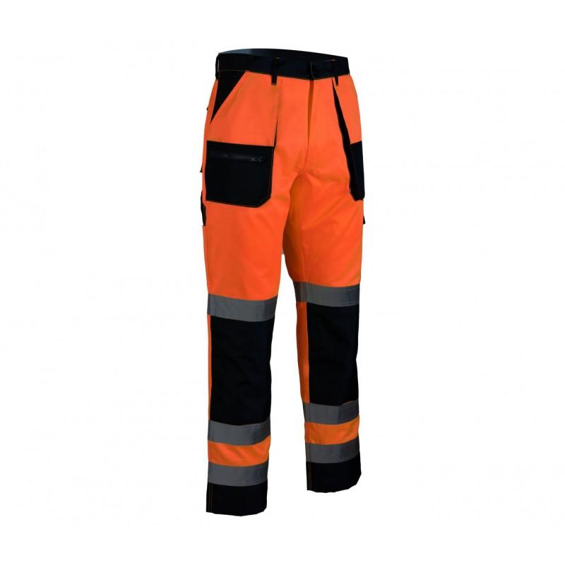 Spodnie do pasa Brixton Flash pomarańcz + granat