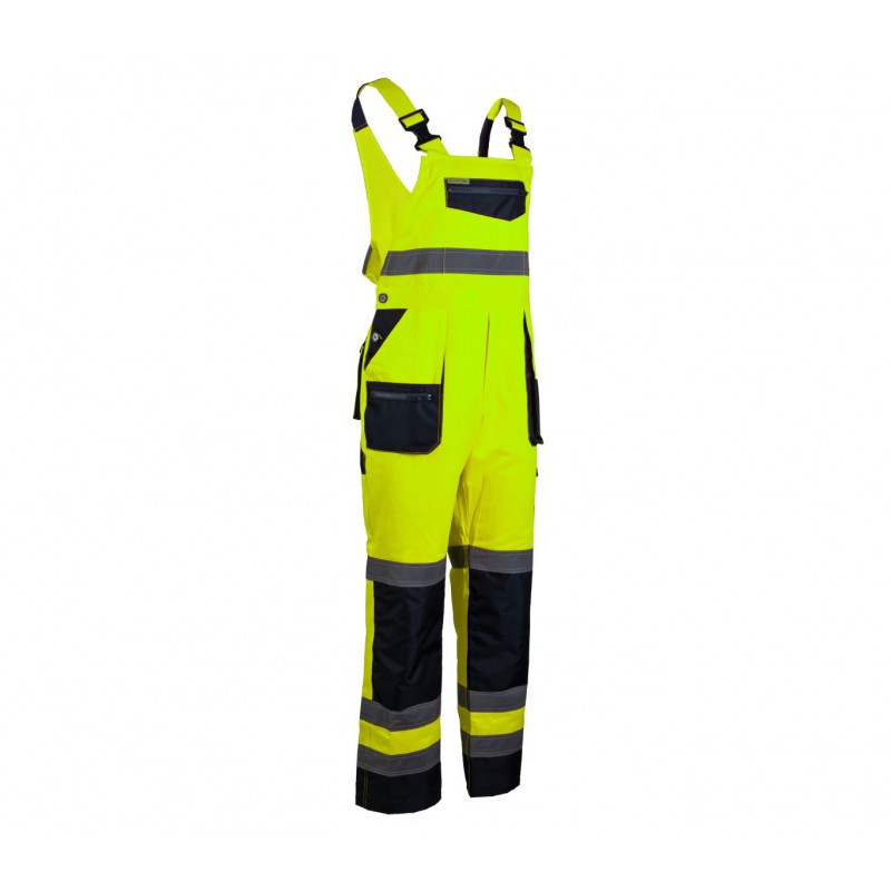 Spodnie ogrodniczki Brixton Flash żółte + granat
