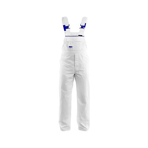 Spodnie ogrodniczki białe Max-Popular