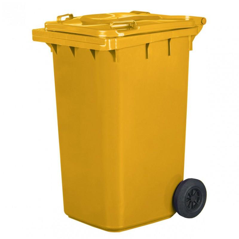 Pojemnik na śmieci 240L żółty