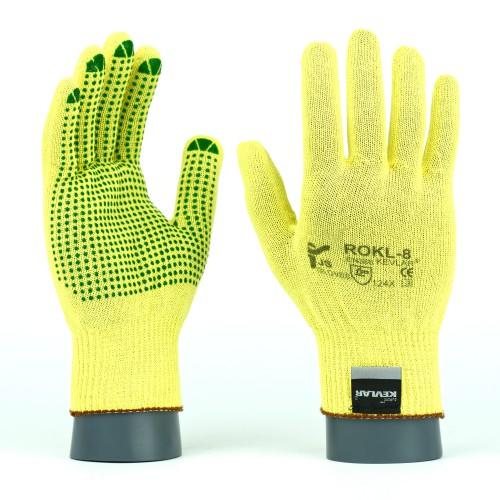 Rękawice antyprzecięciowe kevlarowe ROKL / ROKLV