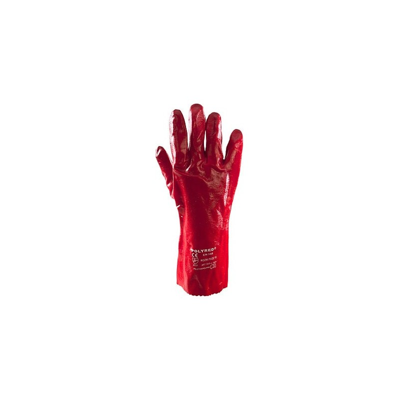 Rękawice PCV Polyred 35cm