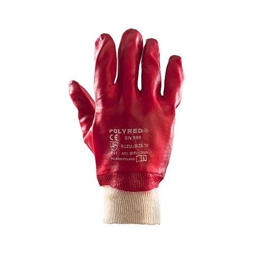 Rękawice PCV Polyred ściągacz 10