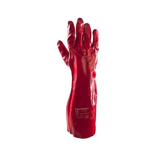 Rękawice PCV Polyred 40cm